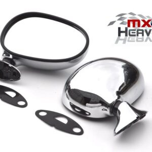 Mazda MX5 MK1 Door Mirrors Manual Chrome Pair
