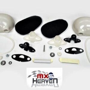 Mazda MX5 MK1 Door Mirrors Manual Unpainted Pair