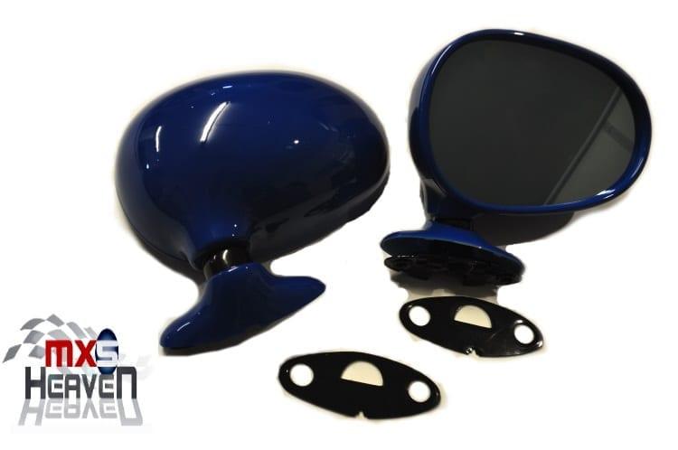 Mazda MX5 MK1 Door Mirrors Manual Mariner Blue DU Pair