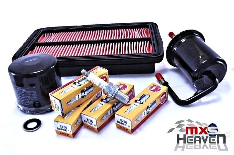 Mazda MX5 MK2 MK2.5 Service Kit Oil Air Fuel Filters NGK Spark Plugs