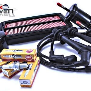 Mazda MX5 MK2 MK2.5 Service Kit Oil Air Fuel Filters NGK Spark Plugs Black HT Leads