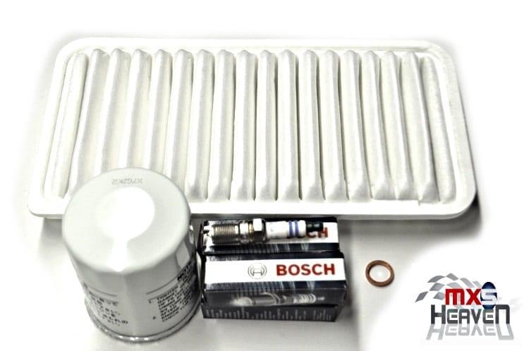 Mazda MX5 MK3 1.8 Service Oil Air Filters Bosch Plugs