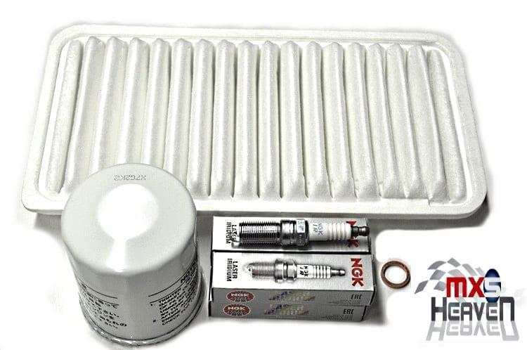 Mazda MX5 MK3 2.0 Service Oil Air Filters NGK Plugs