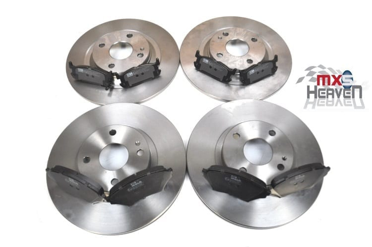 EUNOS 1998-2005 FRONT 255mm  BRAKE DISCS SET AND DISC PADS KIT FOR MAZDA MX5